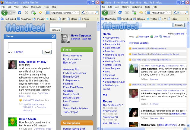 friendfeed-beta-vs-current