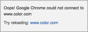 Color website is dead