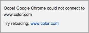 Color website is dead
