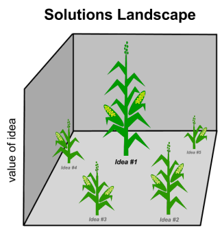 Solution landscape - cornstalks