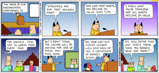 Dilbert - employees are our most important asset