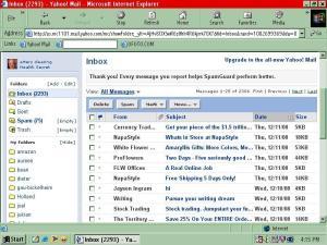 Yahoo email screenshot